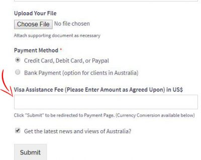 flexible pricing payment form / user defined price