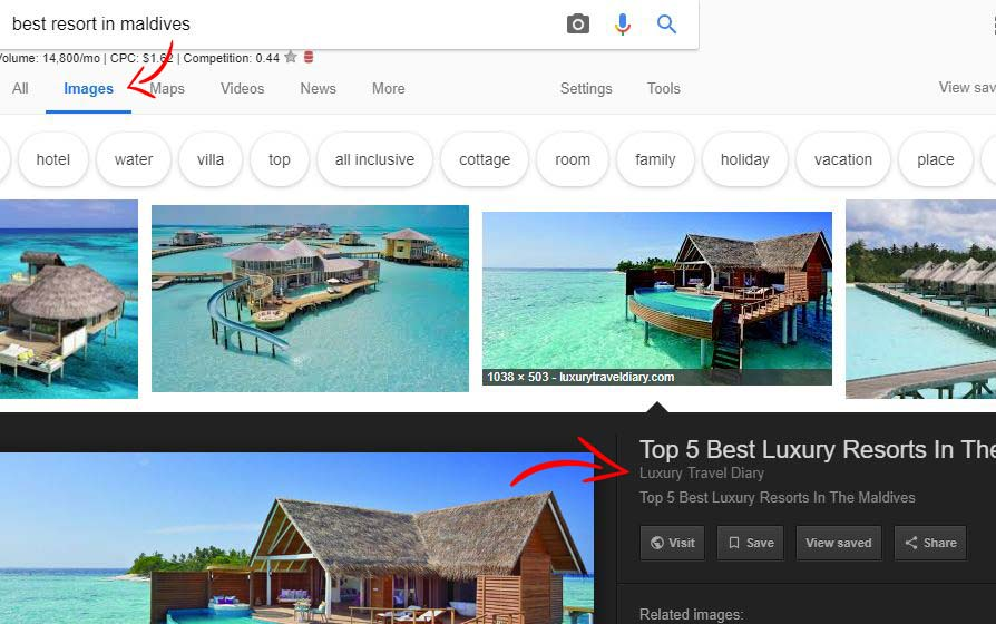 Google Images indexing