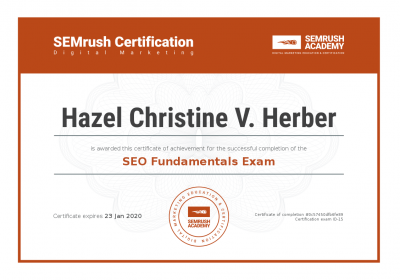 SEO Fundamental Certification